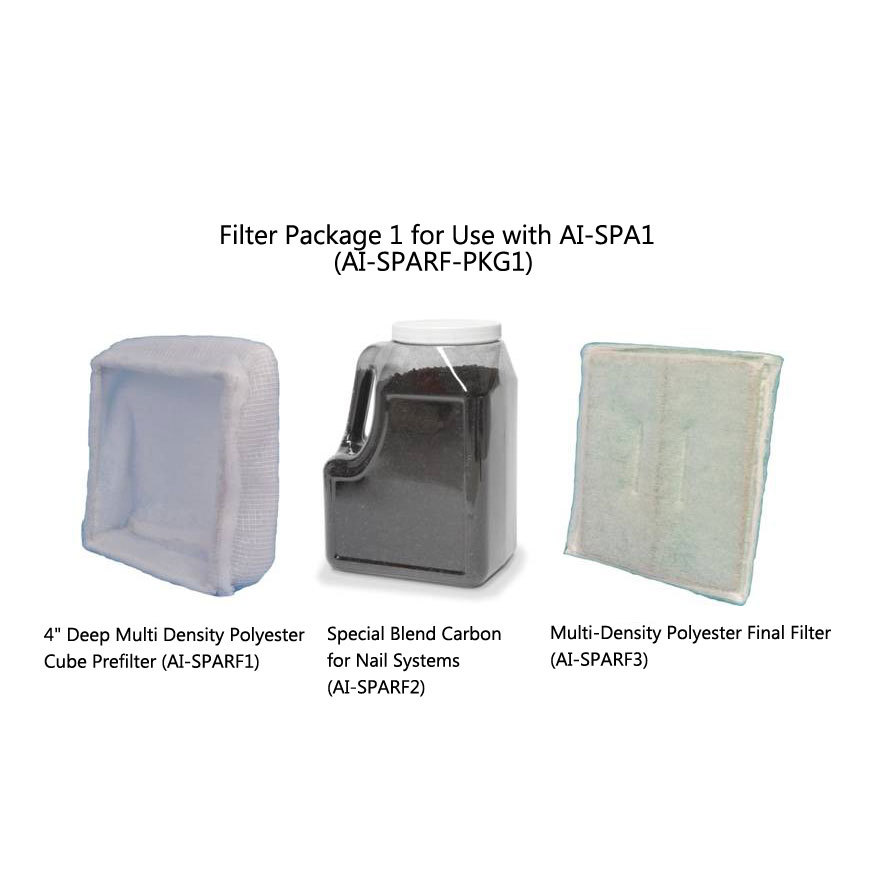 Filter Package For Use With Nail System Ai-spa1 - Ai-sparf-pkg1 - Equipment Removal Fume Extractors AI-SPARF-PKG1