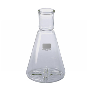 Learning: Science Lab Equipment & Supplies Bottles Containers Lab Equipment Bottles Containers Round Jars - Wh-354235 - Wheaton 354235 50ml; Erlenmeyer Shake Flask; Four Baffles WH-354235