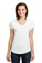 Facilities Apparel T Shirts Activewear Tops Jackets - 6750vl-white - Anvil Ladies Tri-blend V-neck Tee 6750VL-WHITE