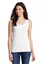 Gildan Softstyle Junior Fit Tank Top - 64200l-white - Clothing Shirts And Tops 64200L-WHITE