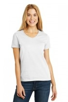 Facilities Apparel T Shirts Activewear Tops Jackets - 5780-white - Hanes Ladies Tagless 100% Cotton V-neck T-shirt 5780-WHITE