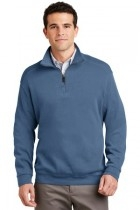 Port Authority Flatback Rib 1/4-zip Pullover - F220-harborblue - Shirts And Tops F220-HARBORBLUE