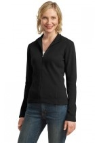 Port Authority Ladies Flatback Rib Full-zip Jacket - L221-black - Shirts And Tops L221-BLACK