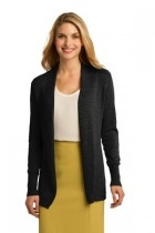 Port Authority Ladies Open Front Cardigan Sweater - Lsw289-black - Shirts And Tops LSW289-BLACK