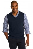 Port Authority Sweater Vest - Sw286-navy - Shirts And Tops SW286-NAVY