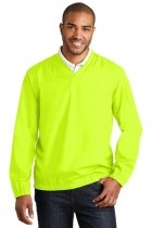 Port Authority Zephyr V-neck Pullover - J342-safetyyellow - Shirts And Tops J342-SAFETYYELLOW