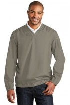 Port Authority Zephyr V-neck Pullover - J342-stratusgrey - Shirts And Tops J342-STRATUSGREY