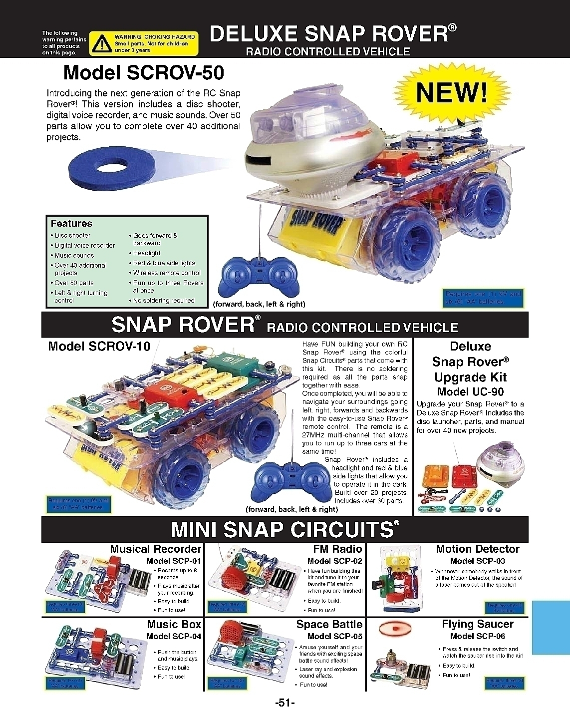 Learning Science Physics Electricity Circuit Kits Scp06 Snap Circuits Rc Rover 0270catalogpage2may20160011