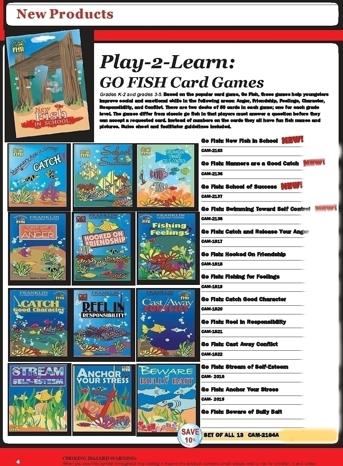 Play 2 learn go fish beware of bully bait card game for Play go fish